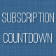 Subscription Countdown