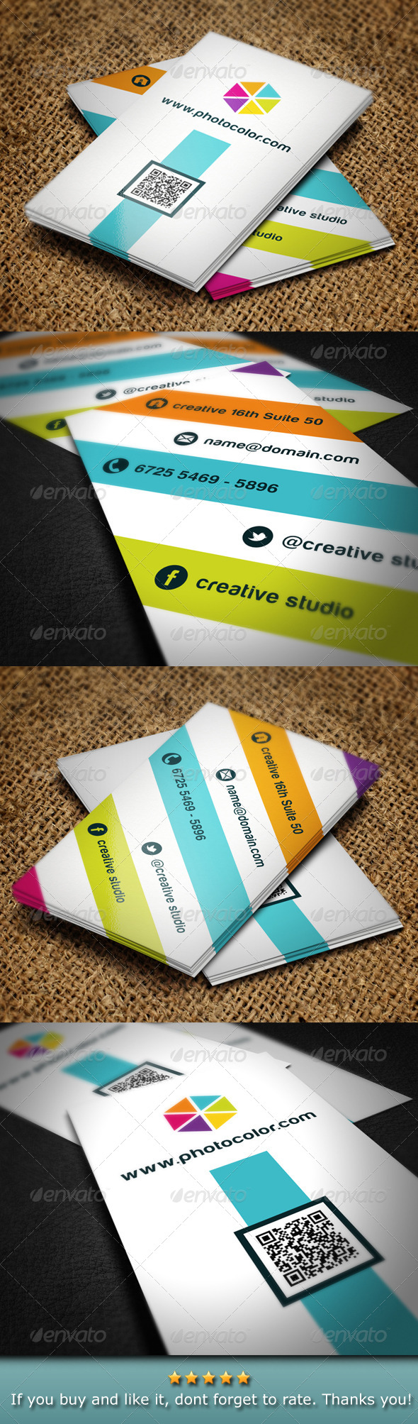 GraphicRiver Creative Color Business Card 4794372