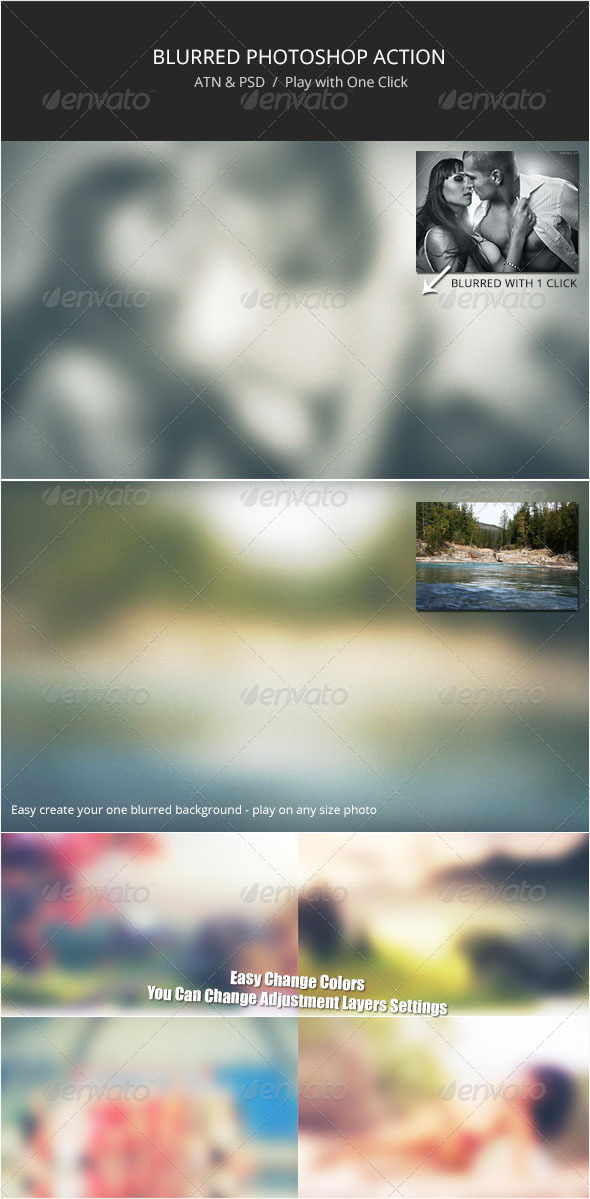 Blurred Action 1 - Photo Effects Actions