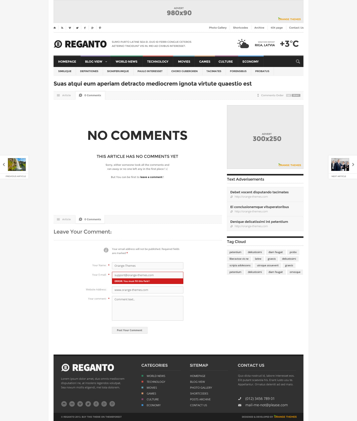 Reganto - Massive Magazine Template