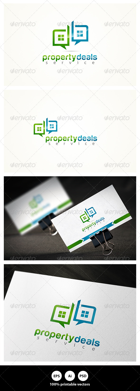 Property Deals - Buildings Logo Templates