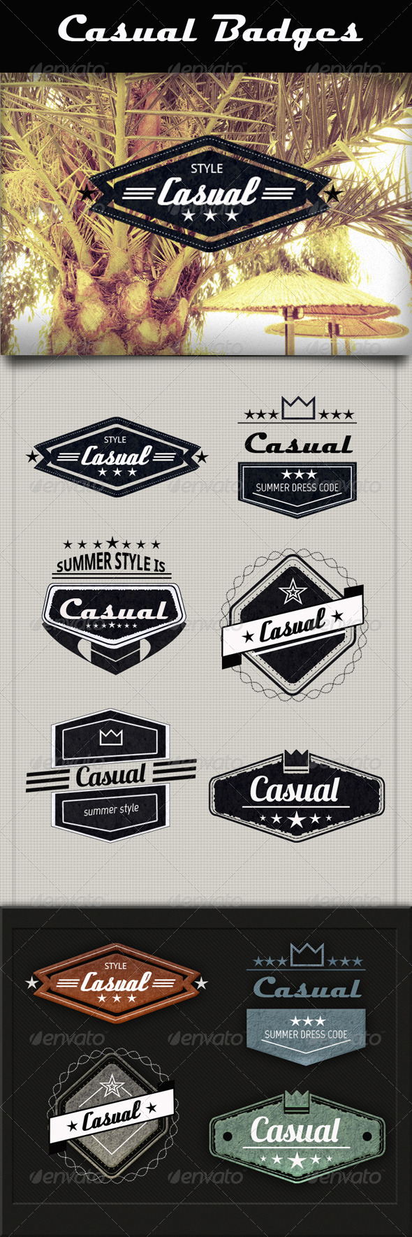GraphicRiver Casual Badges 4595468