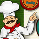 Chef Pizza Menu Background Italian Flag - GraphicRiver Item for Sale
