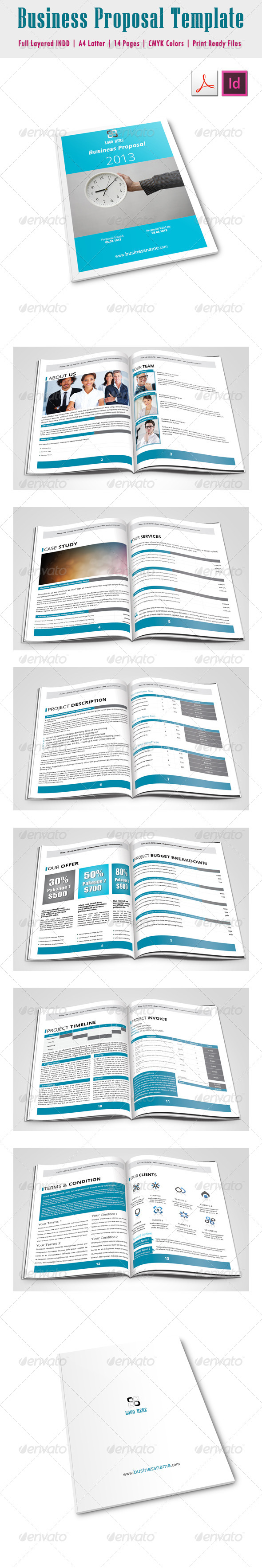 GraphicRiver Business Proposal Template 4688451