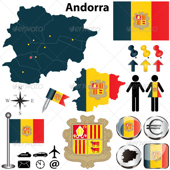 GraphicRiver Map of Andorra 4796459