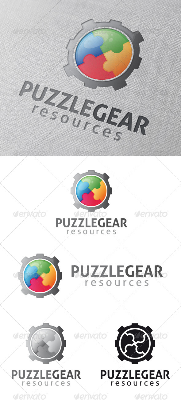 GraphicRiver Puzzle Gear Logo Template 4796792