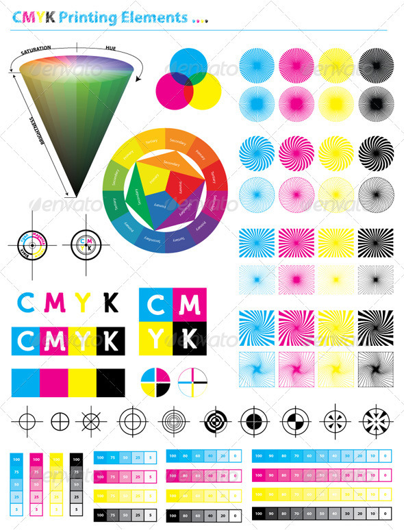 CMYK Printing Elements - Miscellaneous Vectors