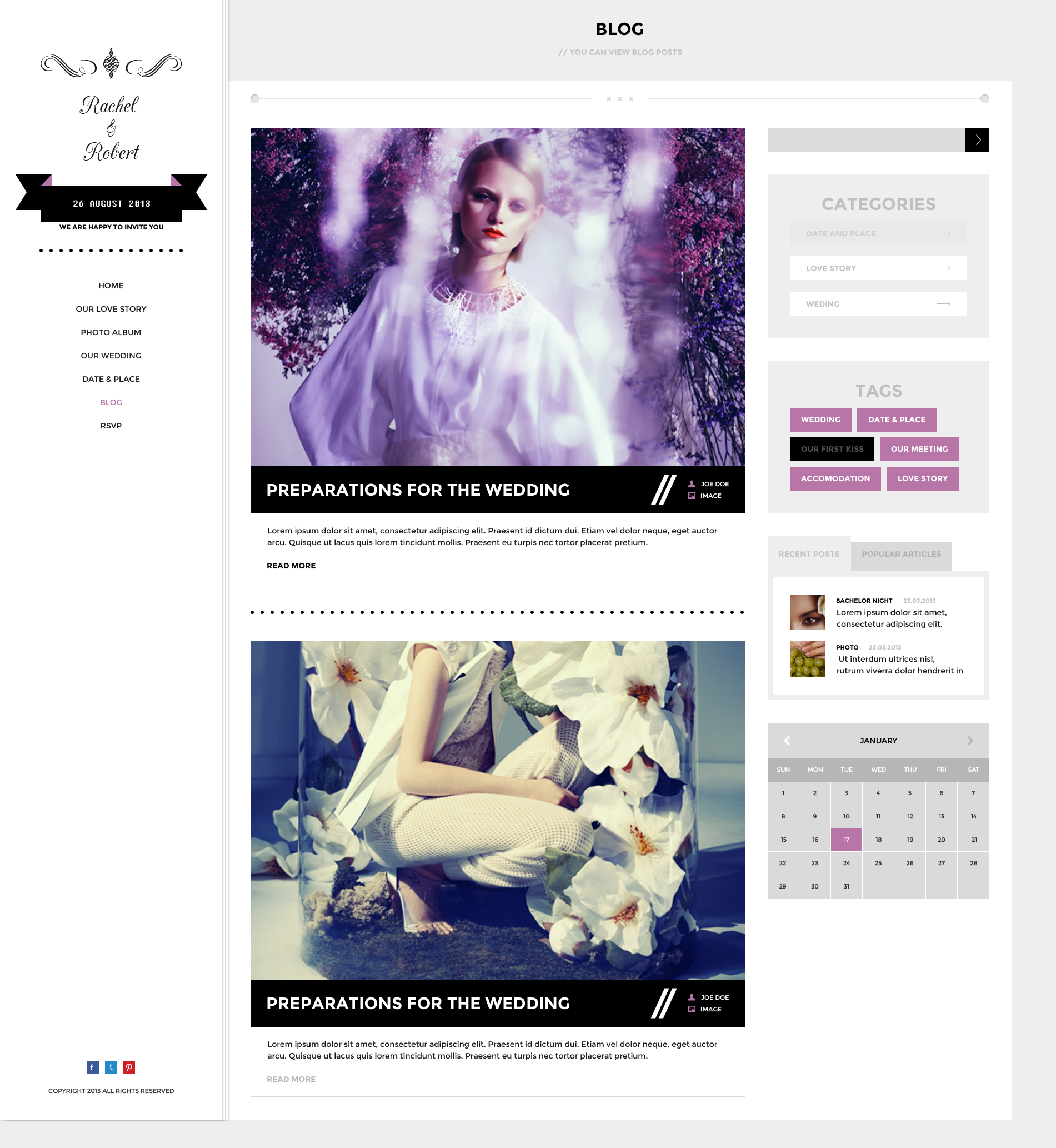 Wedding Day - Responsive HTML Theme