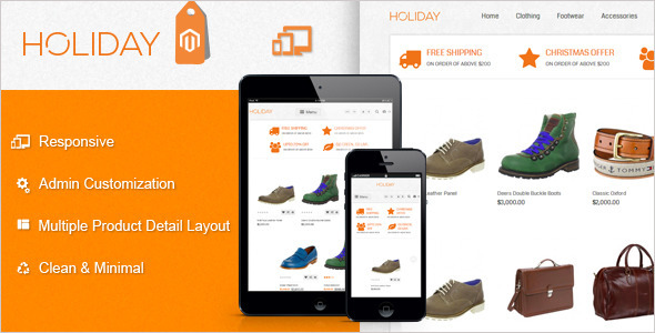 ThemeForest HOLIDAY Premium Business Magento Theme 4797147