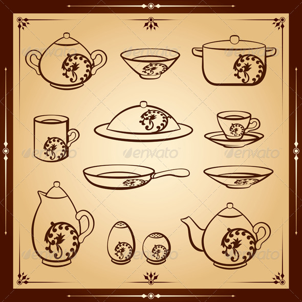 GraphicRiver Kitchen Vector Icon Set 4797153