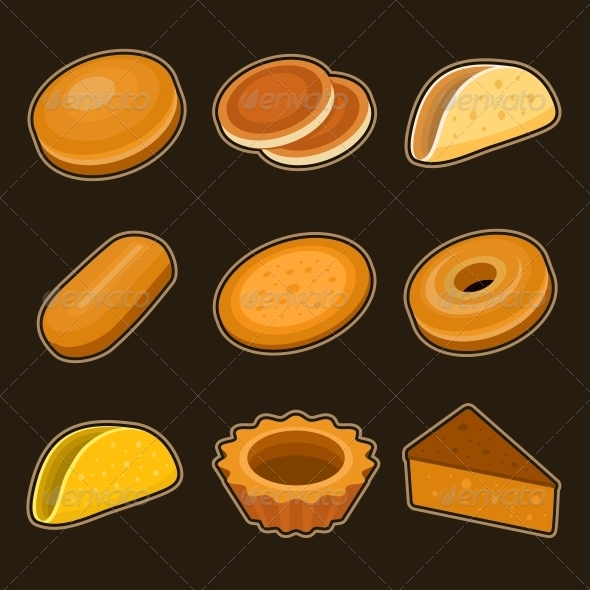 GraphicRiver Baking Icon Set 4797246
