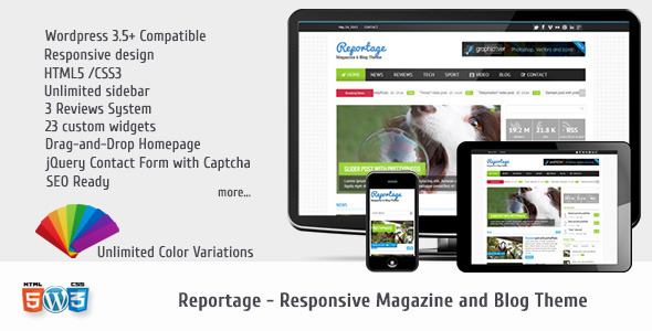 ThemeForest Reportage Magazine & Blog Theme 4797500