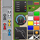 Arcade Racing Tileset & GUI Pack - GraphicRiver Item for Sale