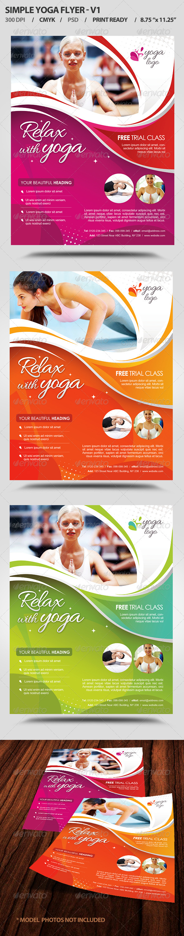 Simple Yoga Flyer V1  - Flyers Print Templates