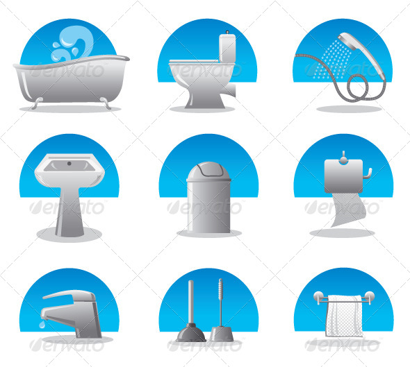GraphicRiver Bathroom & Toilet Set 4781552