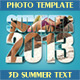 "3D Text Photo Template ""Summer"" - GraphicRiver Item for Sale"