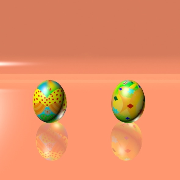 Easter Eggs Set 07 - 3DOcean Item for Sale