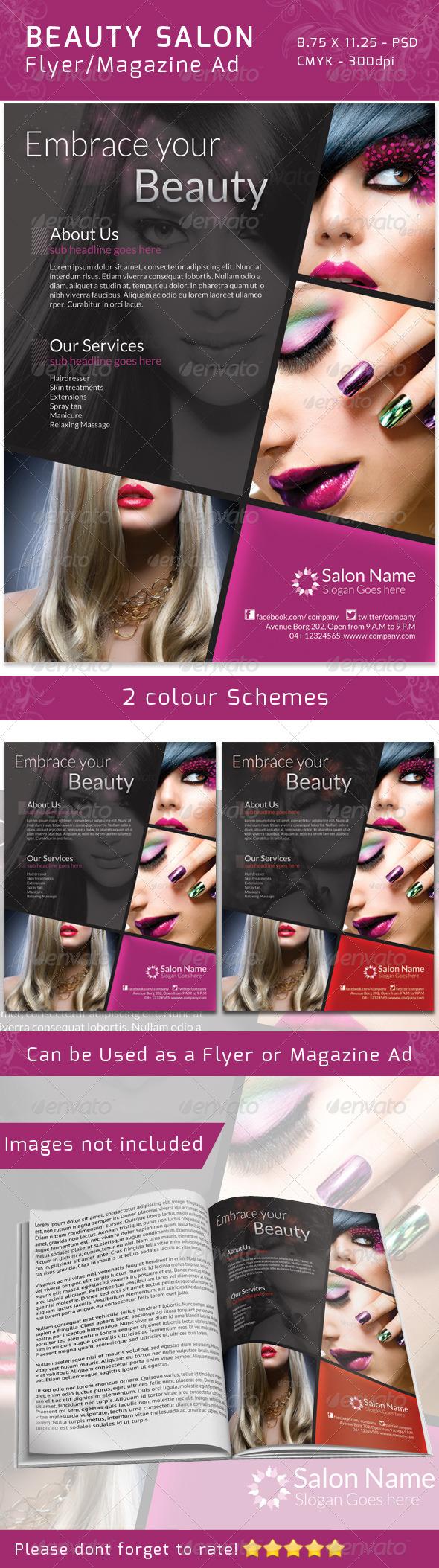 GraphicRiver Classy Salon Flyer Magazine Ad 4737209