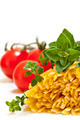 Raw Pasta with Herbs and Tomatoes - PhotoDune Item for Sale
