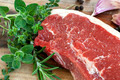 Raw Sirloin Steak with Herbs - PhotoDune Item for Sale