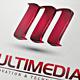 3D Multimedia Letter M Logo Template - GraphicRiver Item for Sale