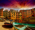 Cinque Terre, Italy. Wonderful classic view of Boats with Colour - PhotoDune Item for Sale