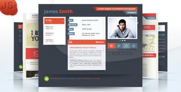 ThemeForest Responsive Portfolio & Personal vCard JS 4553346
