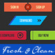 Web Buttons Col-5 Fresh & Clean - GraphicRiver Item for Sale
