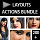 Layouts Photoshop Actions Bundle - GraphicRiver Item for Sale