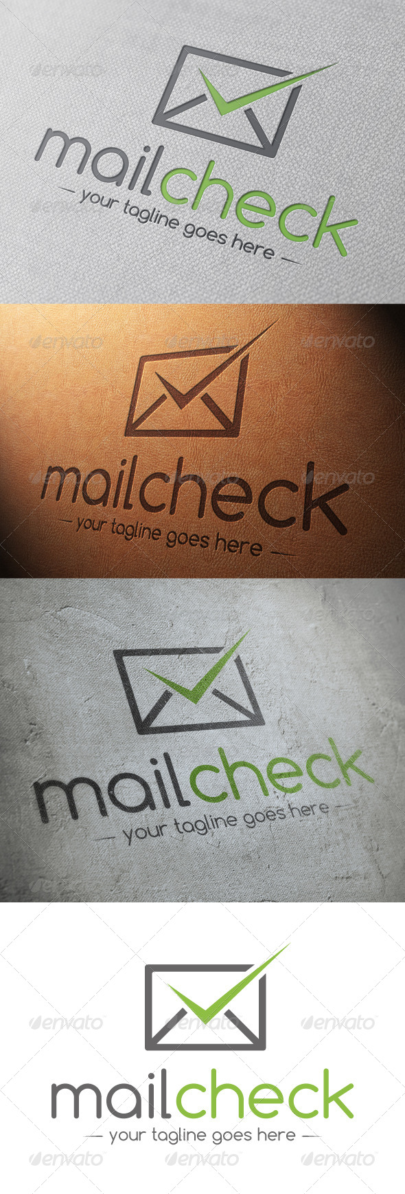 GraphicRiver Mail Tick Check Mark Logo Template 4802153