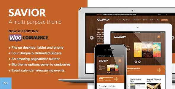 Savior - A Powerful WordPress Theme for Churches - Corporate WordPress