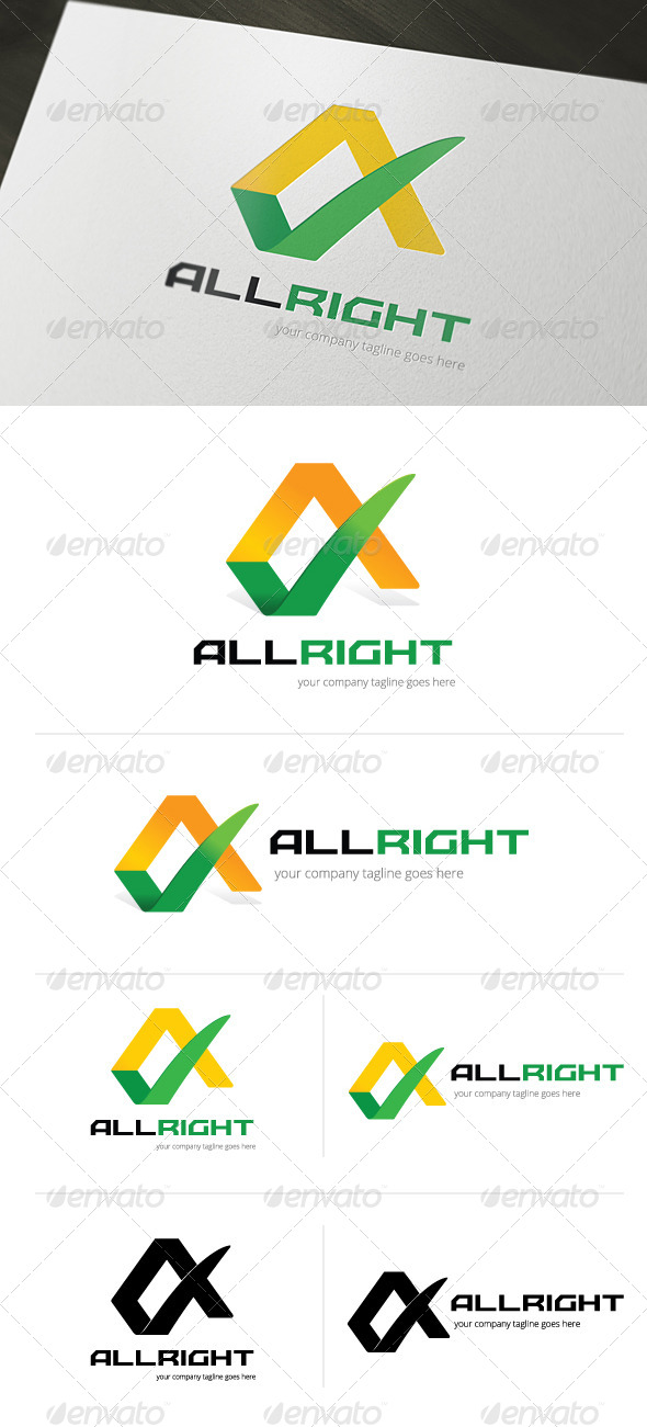 GraphicRiver All Right Logo Template 4794208