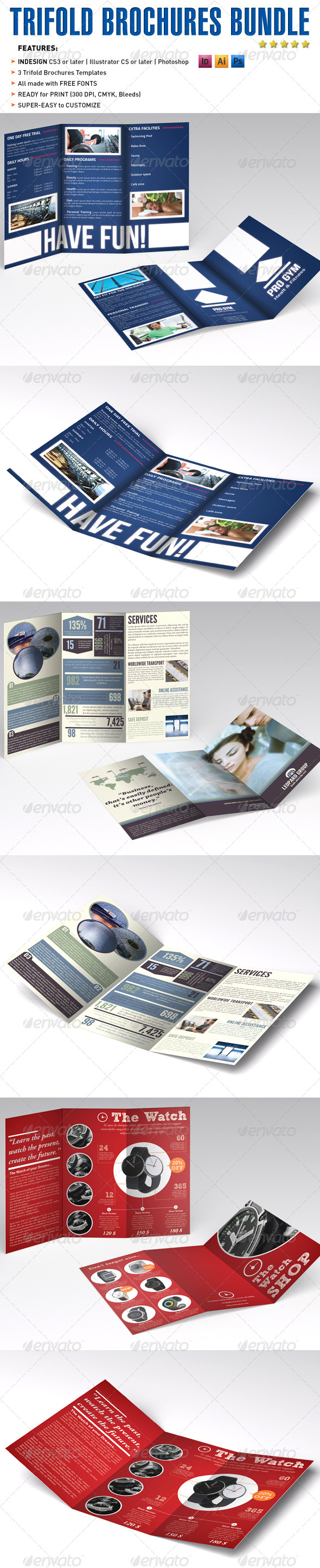 Trifold Brochures Bundle 2 - Catalogs Brochures
