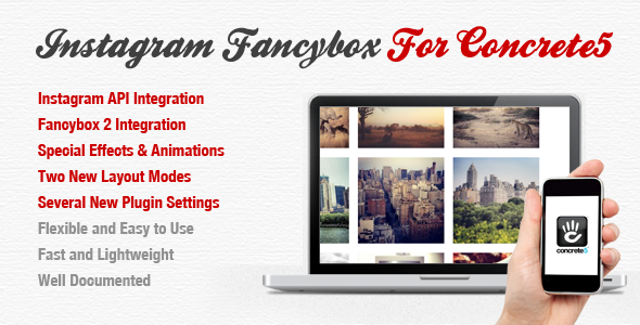 CodeCanyon Instagram Fancybox For Concrete 5 4803309