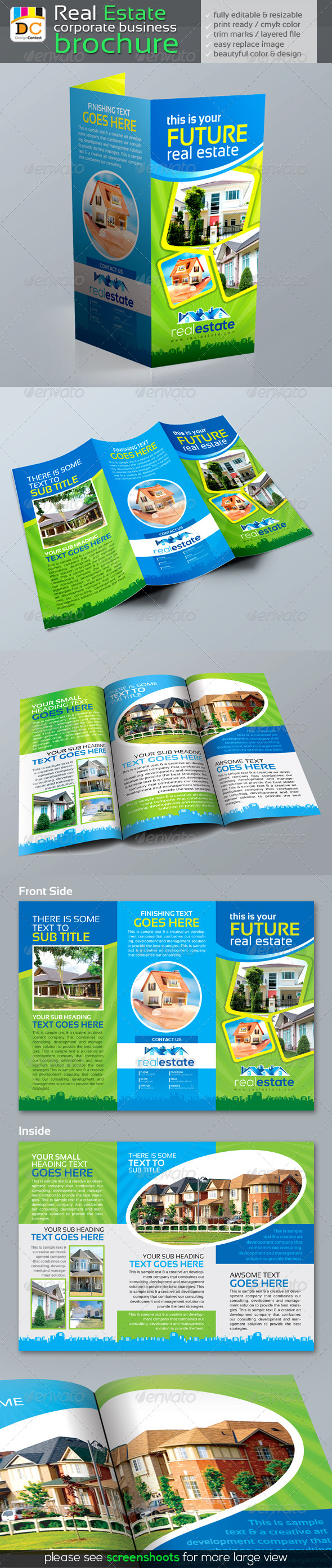 GraphicRiver Real Estate Tri-fold Corporate Business Brochure 4803318