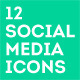 12 Minimalist Social Media Icons - GraphicRiver Item for Sale