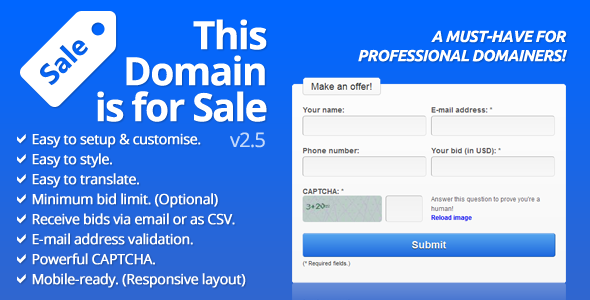CodeCanyon This Domain is For Sale 4803543
