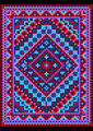 Vivid Carpet Old Style in Blue and Purple Shades - PhotoDune Item for Sale