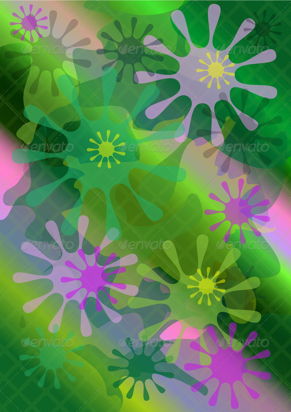 Abstract Bright Forms on  Multicolored  Mesh Background - Stock Photo - Images