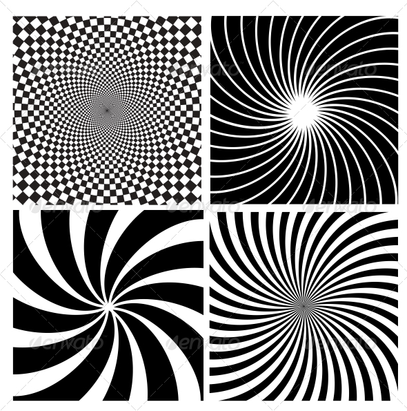 GraphicRiver Black and White Hypnotic Background 4804300