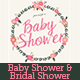 Floral Love Baby Shower / Bridal Shower Invitation - GraphicRiver Item for Sale