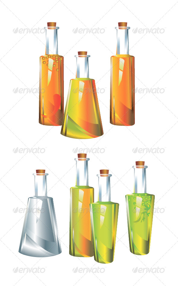 GraphicRiver Original Glass Bottles 4805169
