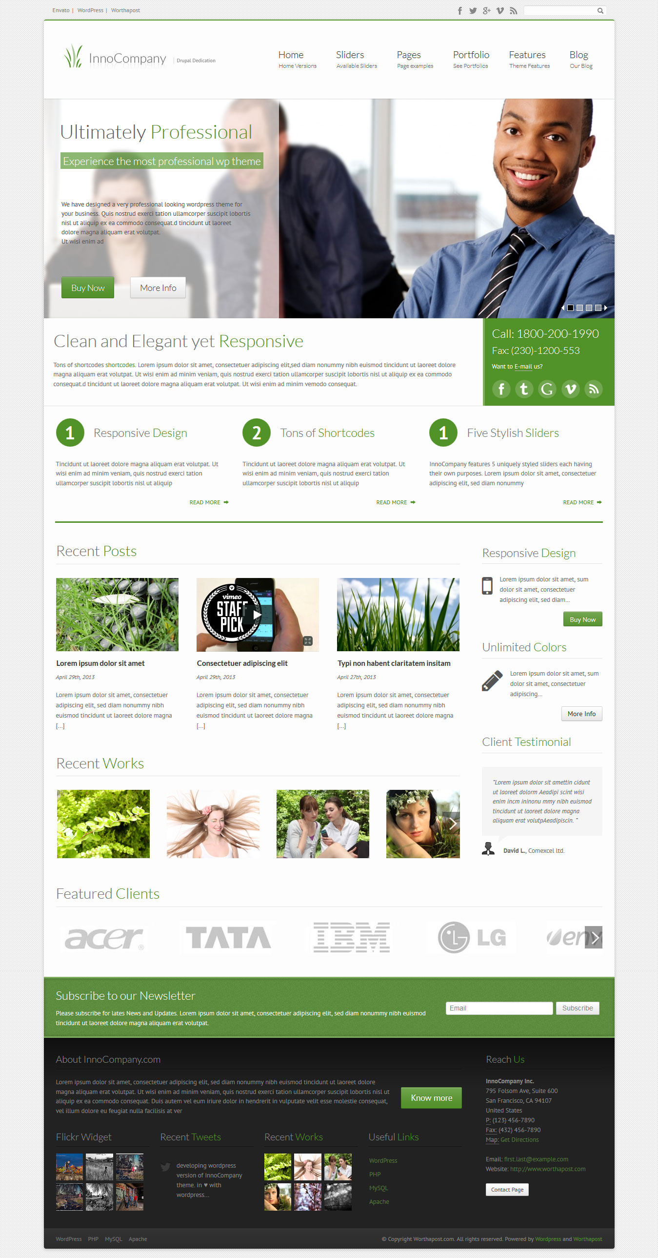 InnoCompany | Corporate wordpress theme
