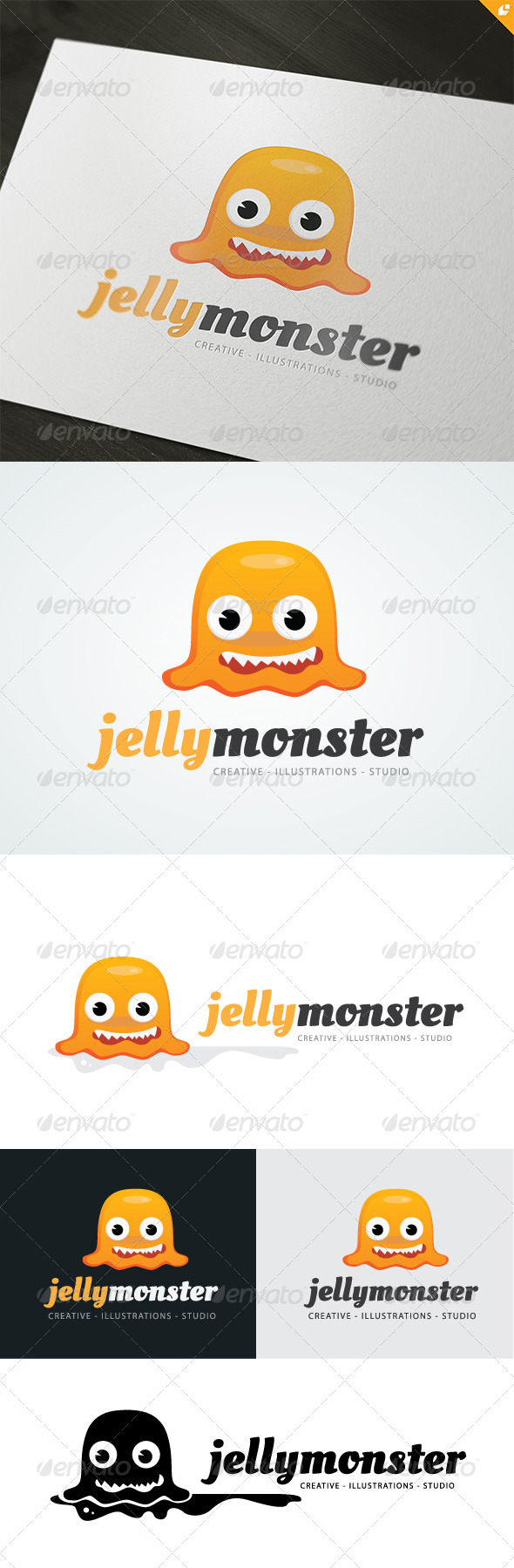 Jelly Monster Logo - 3d Abstract