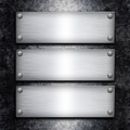 Brushed steel plate over galvanized metall background for your d - PhotoDune Item for Sale