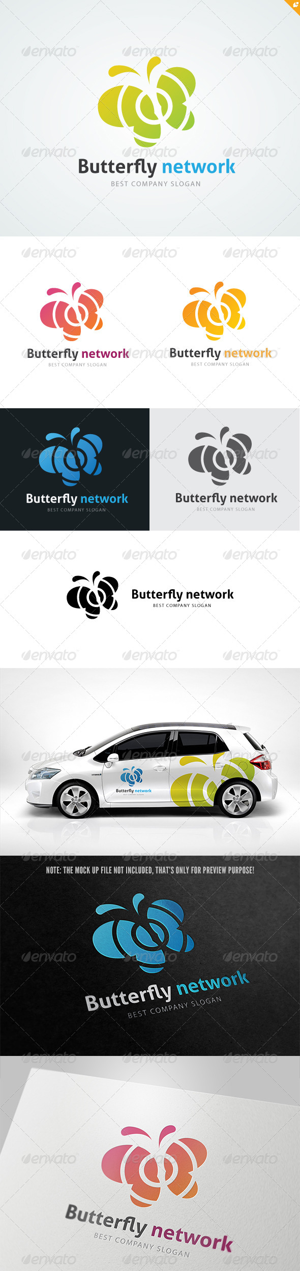 GraphicRiver Butterfly Network Logo 4806568