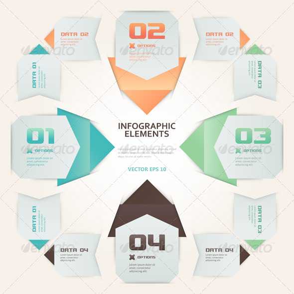 GraphicRiver Modern Origami Style Number Options Infographic 4806862