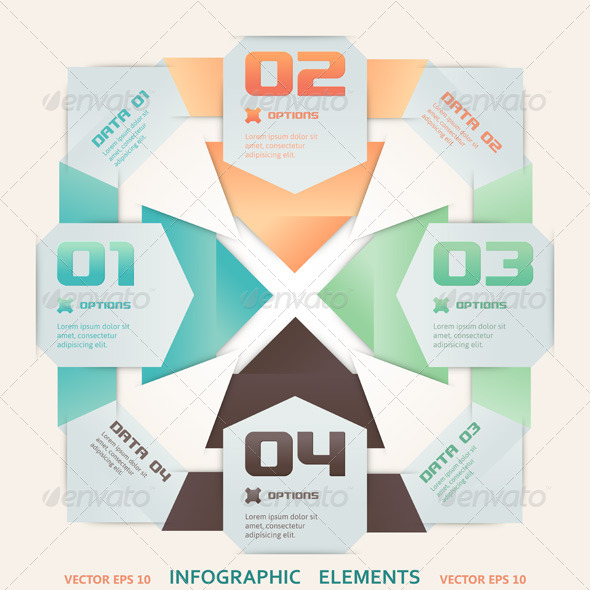 GraphicRiver Modern Origami Style Infographic Illustration 4806976