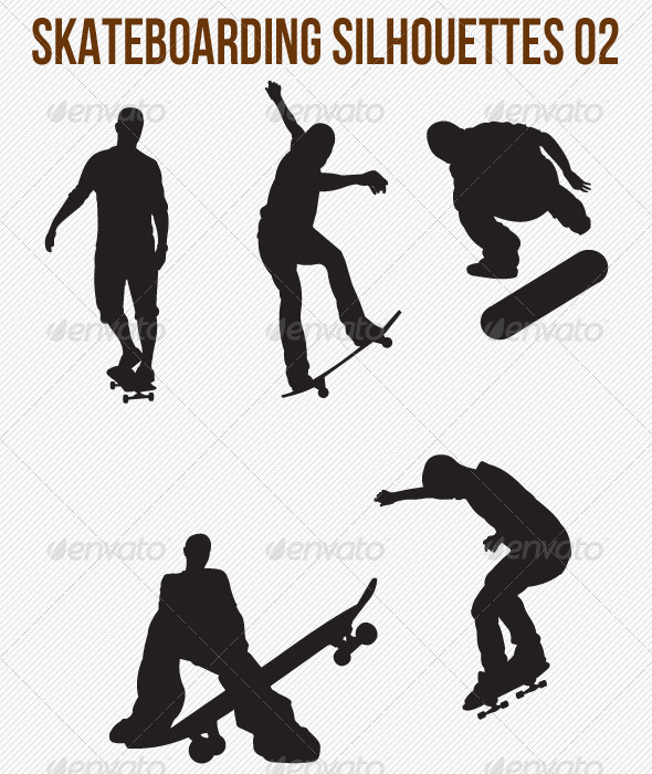 GraphicRiver Skateboarding Silhouettes 4799652