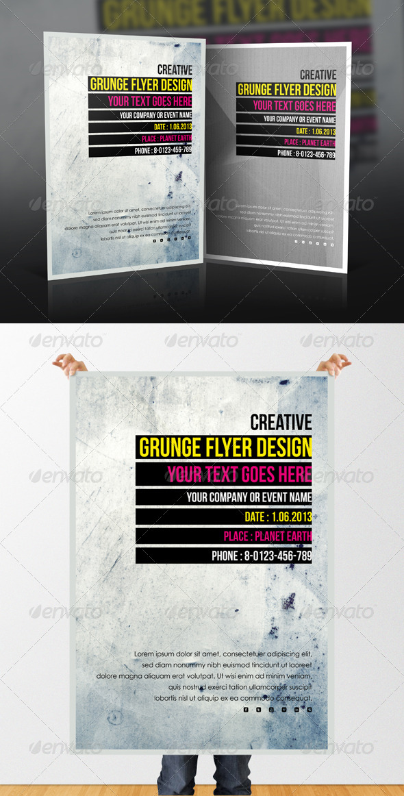 GraphicRiver Minimal Grunge Flyer 4808157